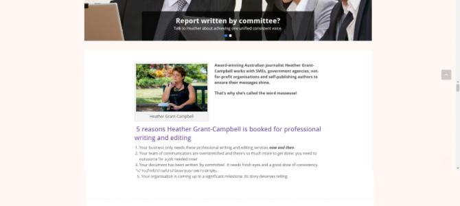 Именной сайт для австралийской писательницы