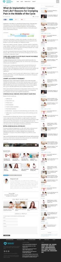 Копирайтинг на английском: На что похожи имплантационные судороги?