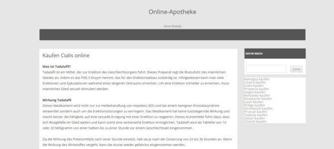 Копирайтинг на немецком языке: что такое тадалафил?