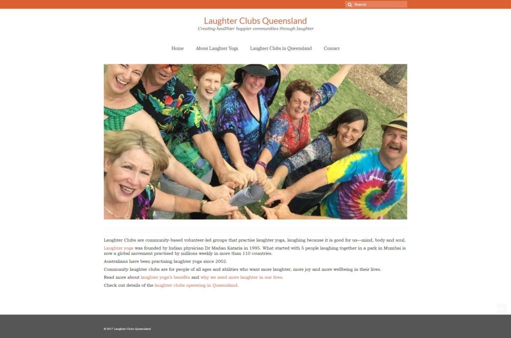 Главная страница сайта Laughter Clubs Queensland